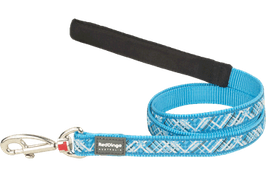 Red Dingo Dog Lead Flanno Turquoise