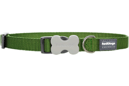 Red Dingo Dog/Puppy Collar Plain Green