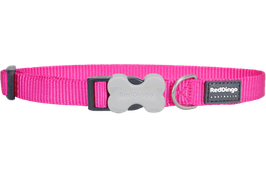 Red Dingo Dog/Puppy Collar Plain Hot Pink