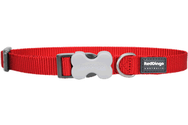 Red Dingo Dog/Puppy Collar Plain Red