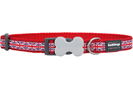 Red Dingo Dog/Puppy Collar Union Jack
