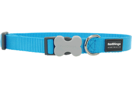 Red Dingo Dog/Puppy Collar Plain Turquoise