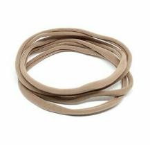 fascette elastiche per capelli - conf. 4 pz col. 03 tortora