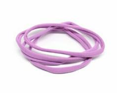 fascette elastiche per capelli - conf. 4 pz col. 08 lilla