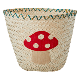 Aufbewahrungskorb aus Raffia funky mushroom Rice DK