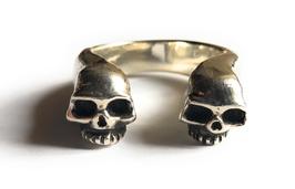 GIANO SKULL PIRATES RING TWO HEADS