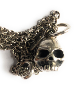 SKULL NECKLACE IN SOLID SILVER 925