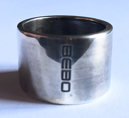 BAND RING IN SOLID SILVER 925 LOGO