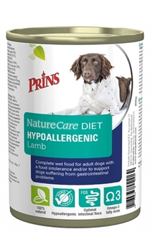PRINS NATURECARE DIET DOG HYPOALLERGENIC LAMB 6X400 GR