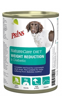 PRINS NATURECARE DIET DOG WEIGHT REDUCTION & DIABETIC 6X400 GR