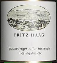 2008 Brauneberger Juffer Sonnenuhr Riesling Auslese, Haag