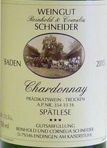 2019 Chardonnay *** Spätlese trocken, R. Schneider