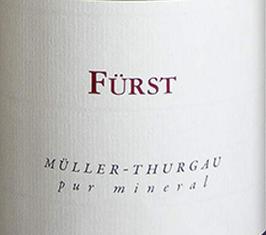 2019 Müller Thurgau  pur mineral QbA trocken, Fürst