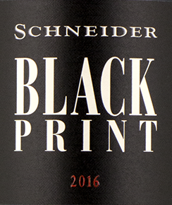 2018 Black Print Cuvee QbA trocken, Schneider