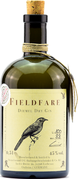 Fieldfare Diemel dry Gin 0,5 l Flasche