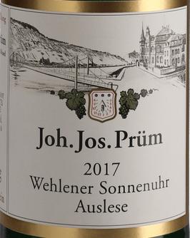 2015 Wehlener Sonnenuhr Riesling Auslese fruchtsüß, J.J. Prüm