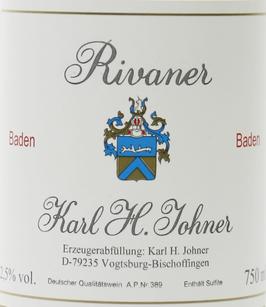 2019 Rivaner QbA trocken, Johner