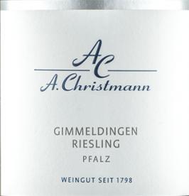 2018 Gimmeldingen Riesling QbA trocken BIO, Christmann