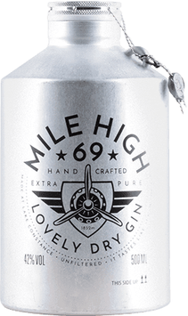 Mile High 69 Loveley dry Gin, 0,5 l Flasche
