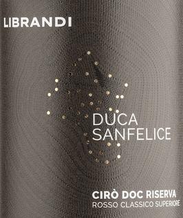 2017 Duca San Felice Riserva IGT, Librandi