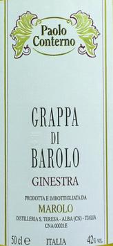 Grappa di Barolo Ginestra 0,5 l Flasche, Conterno