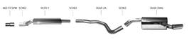 Bastuck Komplettanlage für Opel Adam S 1x oval 120x80mm