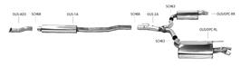 Bastuck Komplettanlage für Opel Insignia OPC 2x 1x100x60mm Raute Limousine