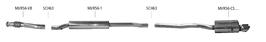 Bastuck Komplettanlage für Mini R56 Cooper S + JCW 2x 90mm / 2x 76mm abgeschrägt