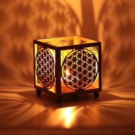 Bougie Atmosphère Lumière Fleur de Vie - kit de 2 carrés