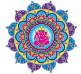 Ganesha mandala  sunseal 14 cm