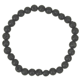 Mala bracelet pierre de lave - noir - simple