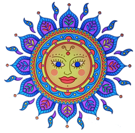 Soleil d'Or mandala  sunseal 14 cm