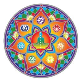 7 Chakras  Mandala  sunseal 14 cm