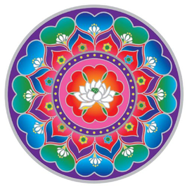 Lotus Coeur Mandala  sunseal 14 cm