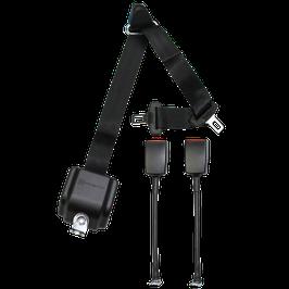 WAV Automatik 3-Punkt-Gurt ohne Höhenverstellung und zwei Seilschlössern/ Winkeln und Kappe