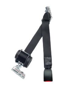 Automatik Schulterschräggurt ohne Höhenverstellung mit zwei Vierfachfittingen