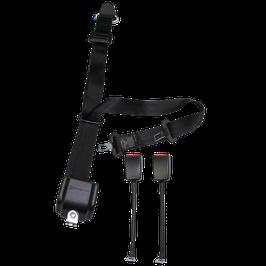 WAV Automatik 3-Punkt-Gurt mit Höhenverstellung und zwei Seilschlössern/ Winkeln und Kappe