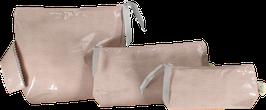 Trousses Coton enduit bois de rose