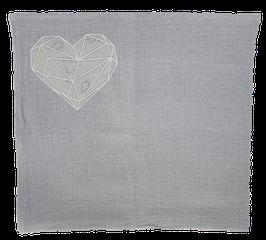 Lange gris / coeur origami