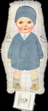 Garçon manteau bleu