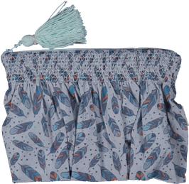 Smocked Clutch - feathers