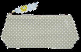 Trousses Coton enduit étoilé Vert de gris