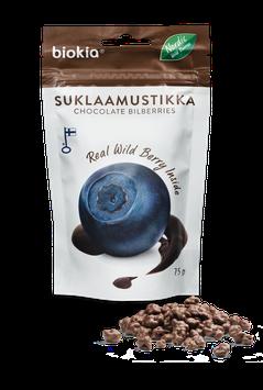Biokia Heidelbeeren mit Schokolade 75 g