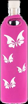 FLASKA - Trinkflasche / SWAROWSKI Schmetterlinge