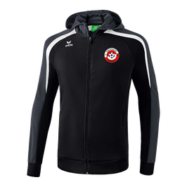 ERIMA Liga Line 2.0 Kapuzen-Trainingsjacke Fb. schwarz/grau/weiß (1071844) (FVE)
