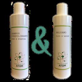 Shampoo Riequilibrante Sebo e Forfora + Balsamo Olio di Argan