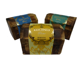 Coni di Incenso con scatola di legno (forziere)