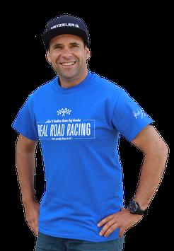 Shirt «Real Road Racing», Blau