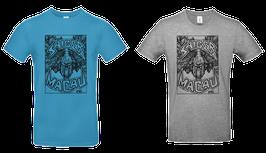 Shirt «Macau», Türkis-Blau oder Grau meliert