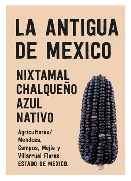 TORTILLAS  DE NIXTAMAL DE MAIZ CHALQUEÑO AZUL ORGÁNICO. ( MILPA ALTA,EDO MEX) MEXICO 500 grs